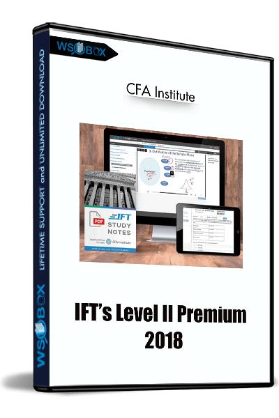 IFT's-Level-II-Premium-2018---CFA-Institute