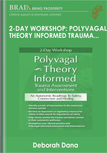 2-Day Workshop: Polyvagal Theory Informed Trauma Assessment and Interventions: An Autonomic Roadmap to Safety, Connection and Healing  – Deborah Dana