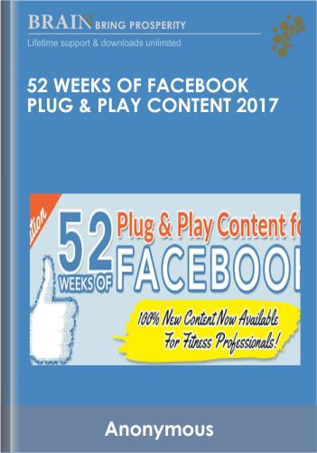 52 Weeks of Facebook Plug & Play Content 2017 – Alicia Streger